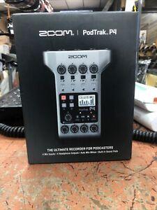 Zoom PodTrak P4 Podcast Recorder New
