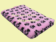 Tapis Confortbed Vetbed Dry rose pattes noires 50x75 cm 26 mm