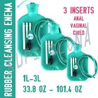 1L 2L 3L REUSABLE RUBBER DOUCHE CLEANSING ENEMA BAG ANAL VAGINAL + WARMER 2 IN 1