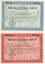 Pair of Wisconsin Investment Company Certificates – 1930s