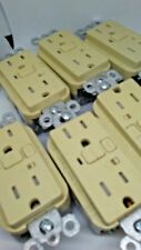 LOT OF 10 Pass Seymour 1595TRAICC4 15A  Tamper Resist Alarm GFCI IVORY FREE SHIP