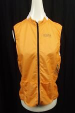 GORE Running Wear Vest Womens Medium M Orange Shell Lightweight Windstopper Mesh