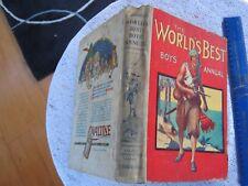 1930. THE WORLD'S BEST BOYS ANNUAL (A4 Col Illust H/B) VG.COND.