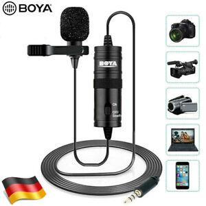 BOYA BY-M1 Kondensator Lavalier Clip-on Mikrofon für Telefon Kamera Camcorder PC