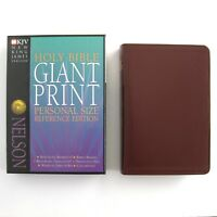 1992 Nelson Giant Print Personal Size Bible Reference Ed. NKJV Leather 334BG