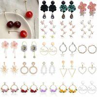 Boho Statement Geometric Tassel Flower Ear Stud Earrings Drop Dangle Women Gift