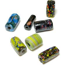Murano Glas bunt Zylinder sehr grob ca. 16x25 mm ,10 Stück