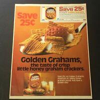 VTG Retro 1982 General Mill's Golden Graham Honey Graham Crackers Ad Coupon
