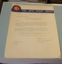1940 REO Motor Car Company Dealer Parts Service Letter New Piston Part Numbers