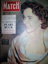 PARIS MATCH N° 0066 LIZ TAYLOR PEARL BUCK DE GAULLE QUARTIER LATIN 1950