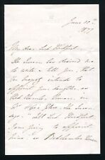 LETTER QUEEN VICTORIA LADY IN WAITING JANE MARCHIONESS ELY LADY BRIDPORT 1877