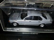 BMW 7 Série 750i E32 1986 Limousine 1/43 Minichamps silver