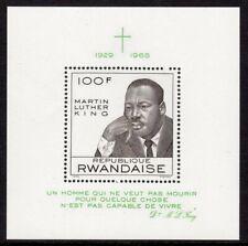 Rwanda Scott # 255 VF MNH 1968 Martin Luther King Jr. Souvenir Sheet