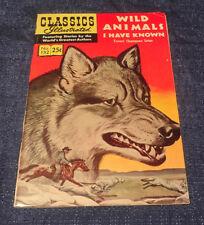 Classics Illustrated #152 WILD ANIMALS I HAVE KNOWN Comic Book HRN 169 Seton