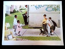 """VINTAGE ESTATE NORMAN ROCKWELL NEW KIDS IN THE NEIGHBORHOOD 11X15"""" PRINT!!! 15A"""