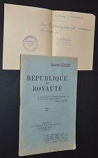 POLITIQUE FRANCE 1929 REPUBLIQUE ET ROYAUTE ACTION FRANCAISE LIGUE Cdt DUBLAIX
