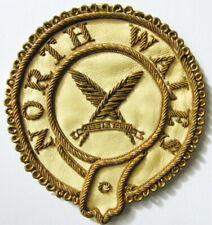 More details for masonic vintage north wales braided leather patch badge unused