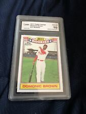 2011 TOPPS LINEAGE RC DOMONIC BROWN #17 PHILLIES  GRADED GEM 10 🔥