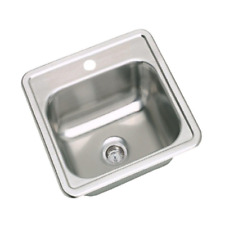 New listing Dayton Drop-in Stainless Steel 15 in. 1-Hole Bar Single Bowl Kitchen Sink