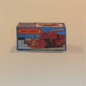 Matchbox Superfast 51 f Combine Harvester Empty Repro K Style Box