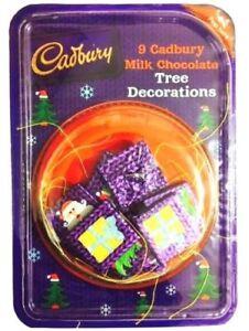 9 Cadbury Milk Chocolate Christmas Tree Decorations Birthday Kids Xmas Gift New