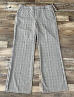 Dana Buchanan Womens Dress Pants Black White Red Plaid Size 12 NEW