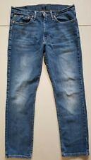 Levis 511 Jeans Mens 34x30 Slim Fit Distressed Stretch Denim Whiskers Blue Wash