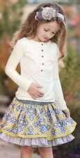 Persnickety Gray And Yellow Lily Skirt Size 2 NWT!
