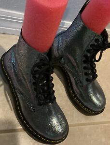 Dr Doc Martens Boots Womens Size 6 EUR 37 Pascal Glitter Sparkle Combat