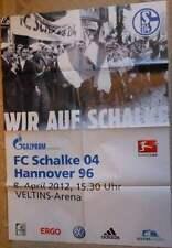 Spielplakat - 08.04.2012 - Schalke vs. Hannover 96 + Bundesliga Saison 2011/2012