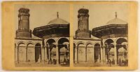 Egitto Cairo Moschea Mohammed Ali c1860 Foto Stereo Vintage Albumina