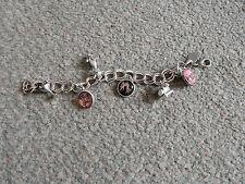 Accessorize Bracciale con Charm argento pesante braccialetto catena Cat Princess Rosa Telefono