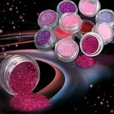 12pcs Color Tool Acrylic Powder Nail Art Glitter Dust Tips Manicure Decoration
