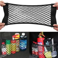 2-Layer Universal Car Storage Net Mesh Organizer Black Pouch Bag For Car Trunk S