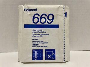 Polaroid 669 Polacolor ER Color Instant Film - 10 Photos -Expired 03/1993 SEALED