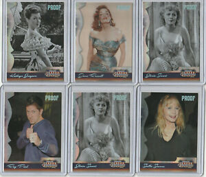 2008 DONRUSS AMERICANA SILVER PROOF LOT (11) JANE RUSSELL RAY PARK DIANE FARR +