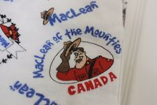 Maclean of the Mounties Handmade Canadian Pajama Pants sz Small Canada Police