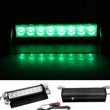 12V 8 LED Green Dash Strobe Lights Car Warning Lights Emergency Flashing Lamp