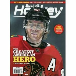 New May 2021 Beckett Hockey Card Price Guide Magazine With Patrick Kane