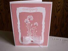 Handmade Sympathy Card Using Stampin Up Rhinestones Spellbinders Sending Prayers