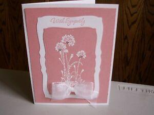 Handmade Sympathy Card Using Stampin Up Rhinestones Spellbinders