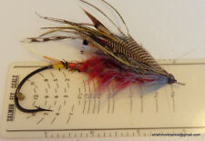 Rare Vintage Gut Eye Fully Dressed Salmon Fly Size 10/0 Excellent