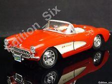 Burago 1:24 1957 Chevrolet Corvette Red Classic American Muscle Sports car