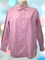 Ann Taylor Women's Blouse Size M Long Sleeve Striped Cotton Button Down Shirt