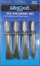"MintCraft 4 Piece 5"" Round Shank Air Chisel Set"