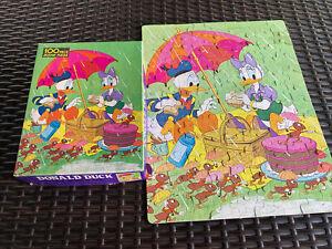 Vintage Walt DisneyDonald Duck 1977 Whitman 100 Piece Puzzle Disney ~complete