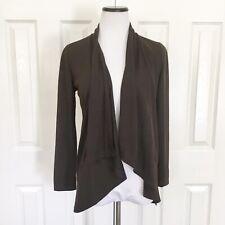 Moa USA Womens Top Brown Long Sleeve Open Size Medium