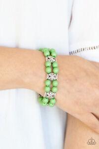 NEW Paparazzi Jewelry Bracelet Daisy Debutante Green NWT