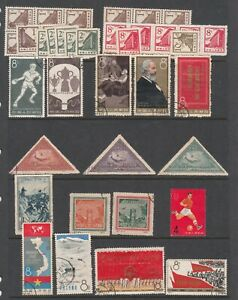 China small collection of used and MUH stamps. Some with faults. Going cheap