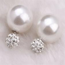 New Fashion Pearl Crystal Rhinestone Gold/Silver Plated Earring Ear Stud Jewelry